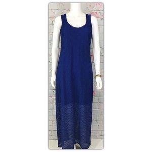 Apt . 9 Blue Lace Maxi Dress